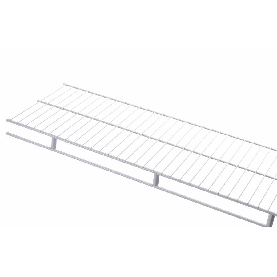 Rubbermaid Wardrobe 6-ft L x 16-in D White Wire Shelf | For the Home ...