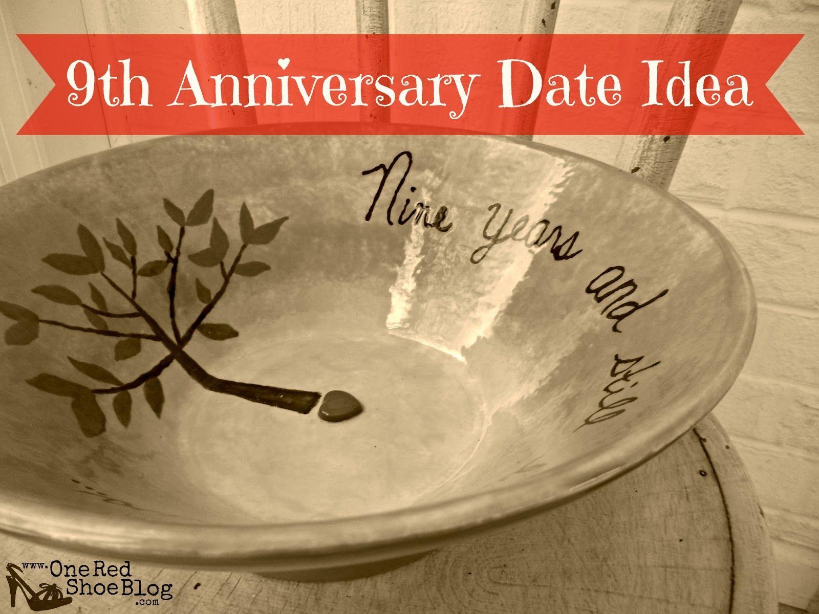 9th anniversary pottery idea for anniversary date night