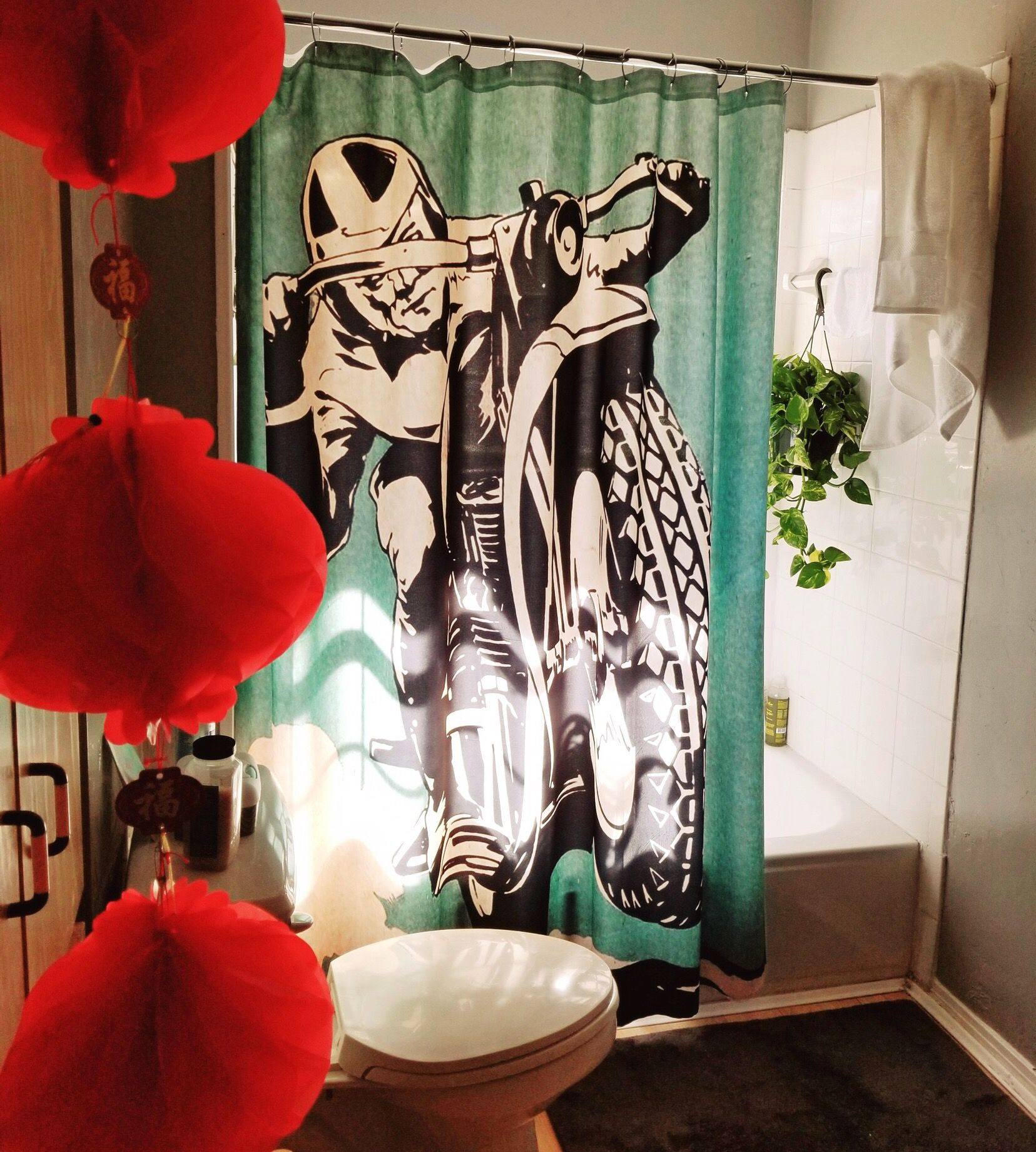 Motorcycle Shower Curtain From Society6 Com Curtains Shower Prints