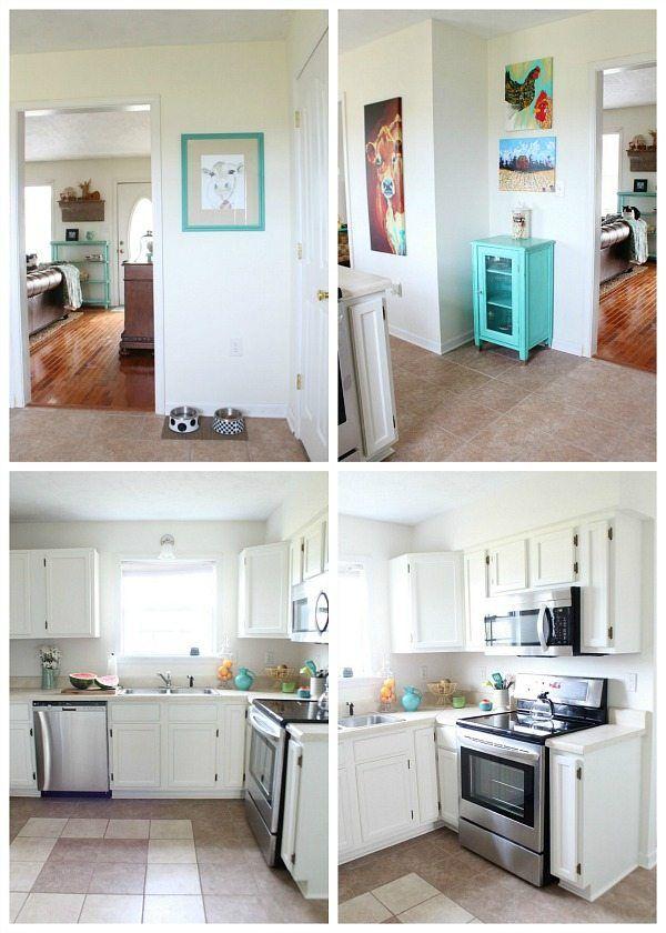 Dover White Kitchen Cabinets Lighten up your Kitchen ...