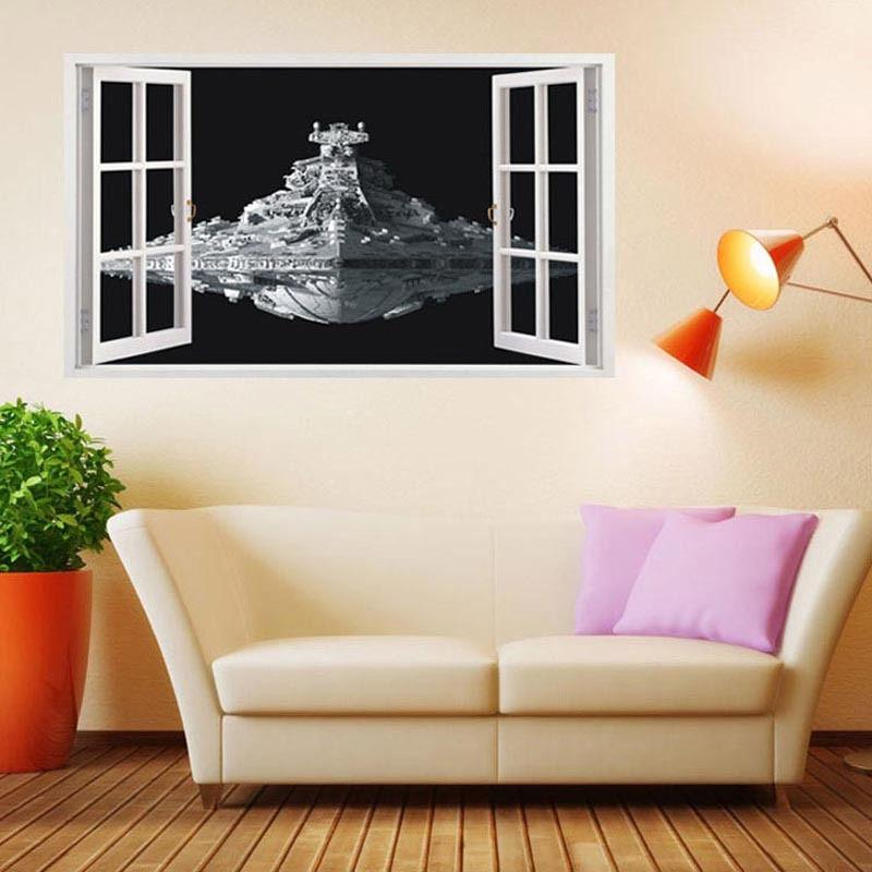 Star Wars Spacecraft Destroyer D Wall Decal Spacecraft D Wall - Wall stickershuhushopxaudrey hepburn beautiful eyes removable