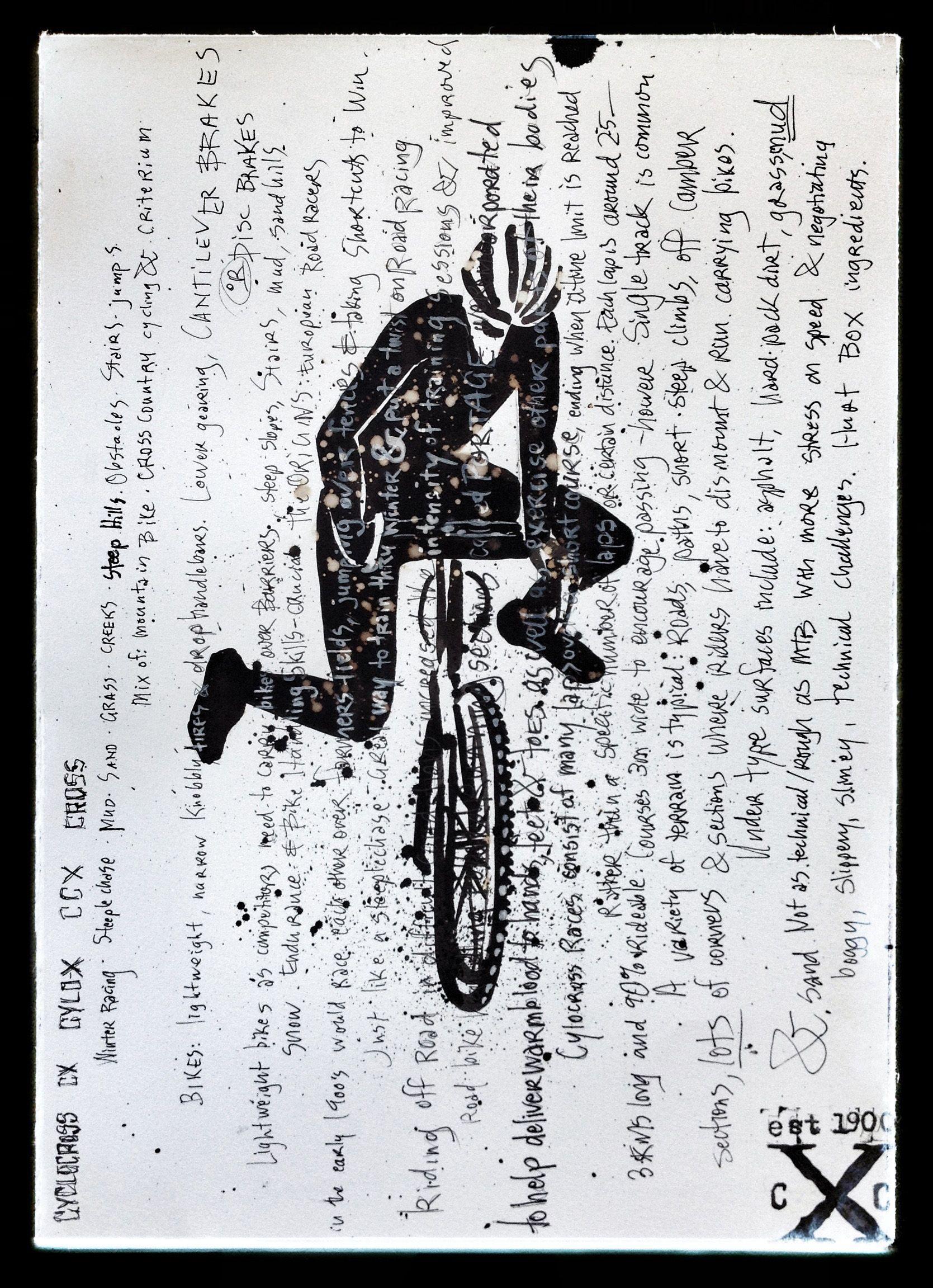 Ink & bleach on paper sketch. www.cycologygear.com