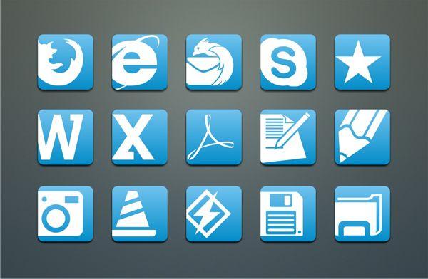 Simple Blue-White icons - free icons, desktop icons, mac icons