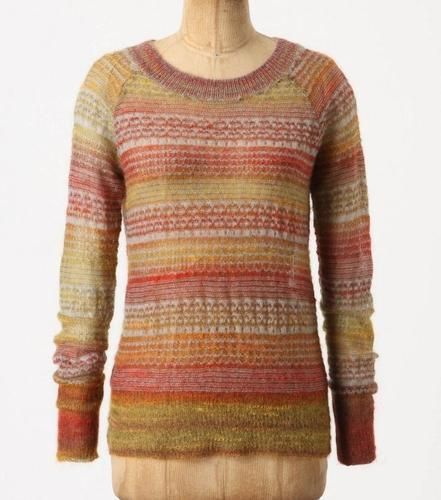 Anthropologie Sun-Marled Pullover Sweater
