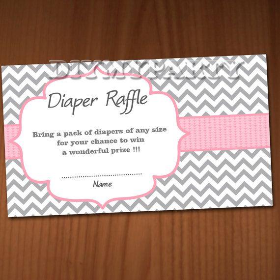 Baby Shower Diaper Raffle Ticket Diaper Wipe Raffle Card Diapers Raffles Baby  Shower Games Printable Digital Files Rose Printable Decor DIY
