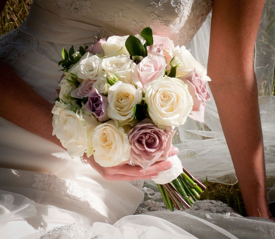 Dusky Pink And Ivory Rose Bouquet By The Gorgeous Flower Company Surrey England