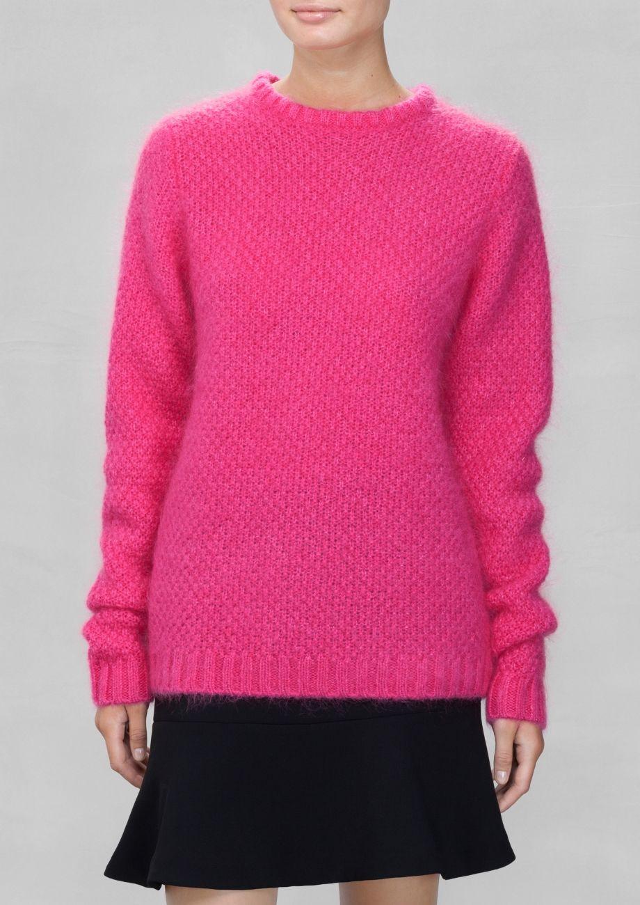 Fuzzy Sweater | Pink | Knitwear, Fall winter and Fall winter 2014