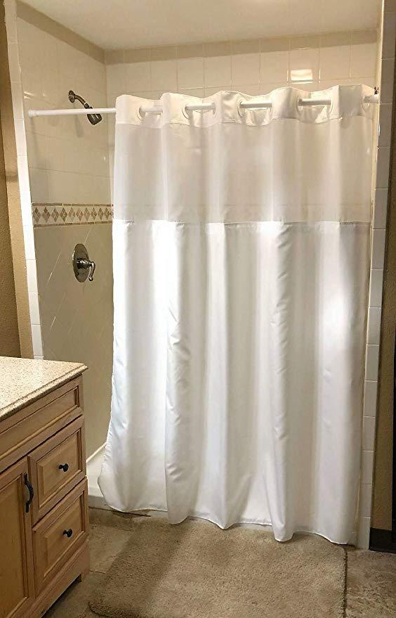Amazon Com Hookless Shower Curtain Luxury Hotel Spa Shower
