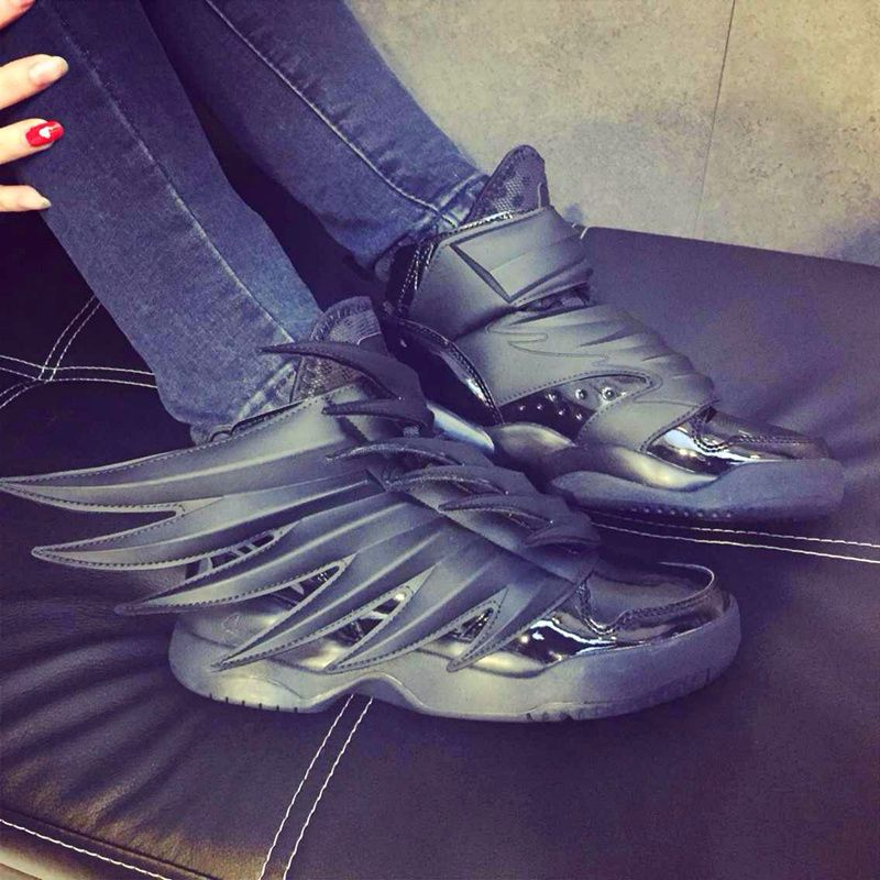 buy popular 57d10 d4af2  shoes  womens  sneakers Adidas Jeremy Scott JS Wings 3.0 BLACK DARK KNIGHT  D66468