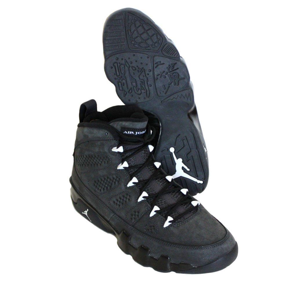 buy popular 05244 ce5e7 Nike Men s Air Jordan 9 Retro Shoes 302370 013 Anthracite White Black Size  11  Nike  BasketballSneakers