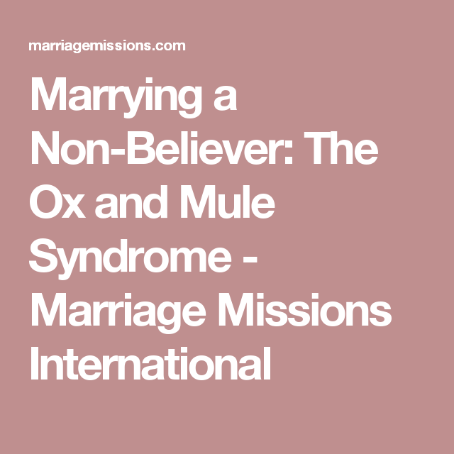 marriage to a non believer