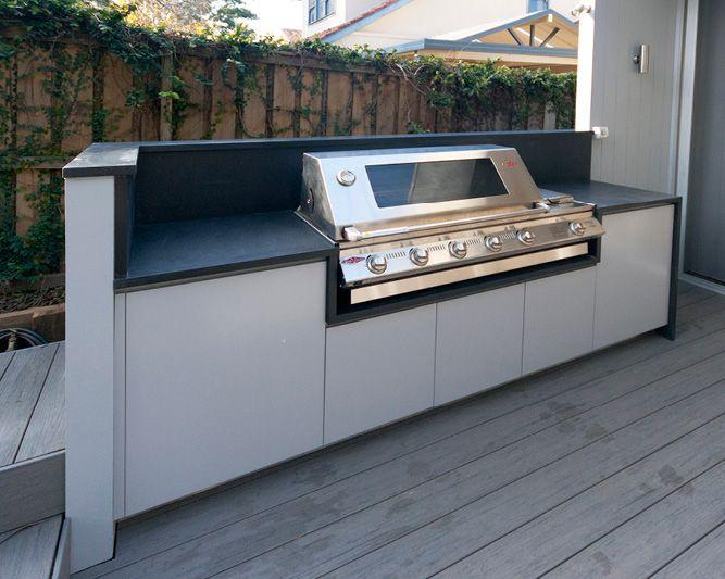 outdoor bbq custom made dark 20mm stone benchtop artarmon sydney