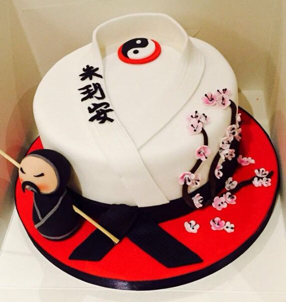 Martial Arts Cake Japanese Style Carina In 2018 Pinterest