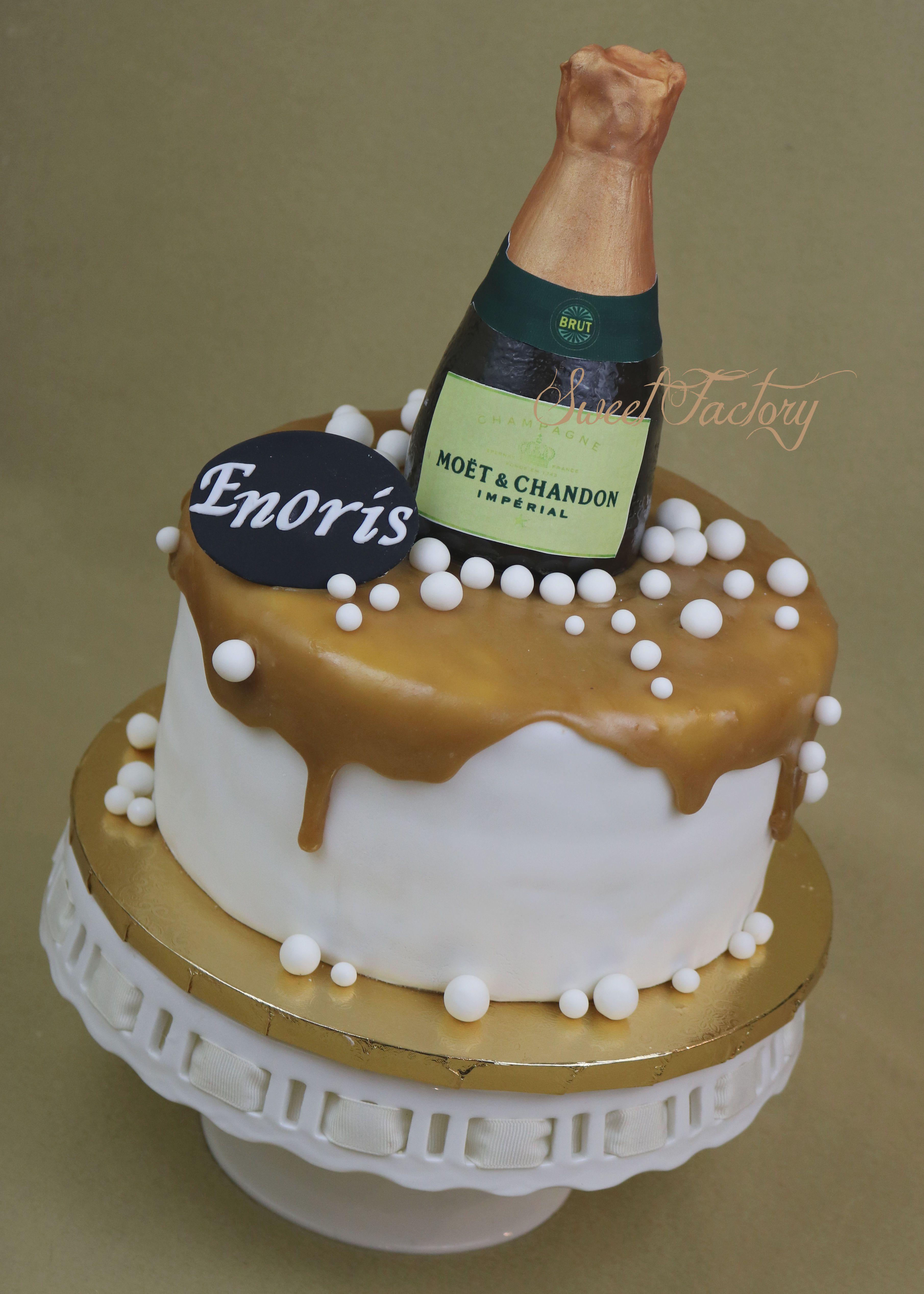 Moet Champagne Bottle Cake Moet Bottle Cake New Year