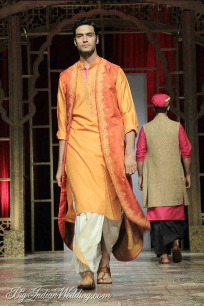 Raghavendra Rathore vibrant coloured kurta with dhoti
