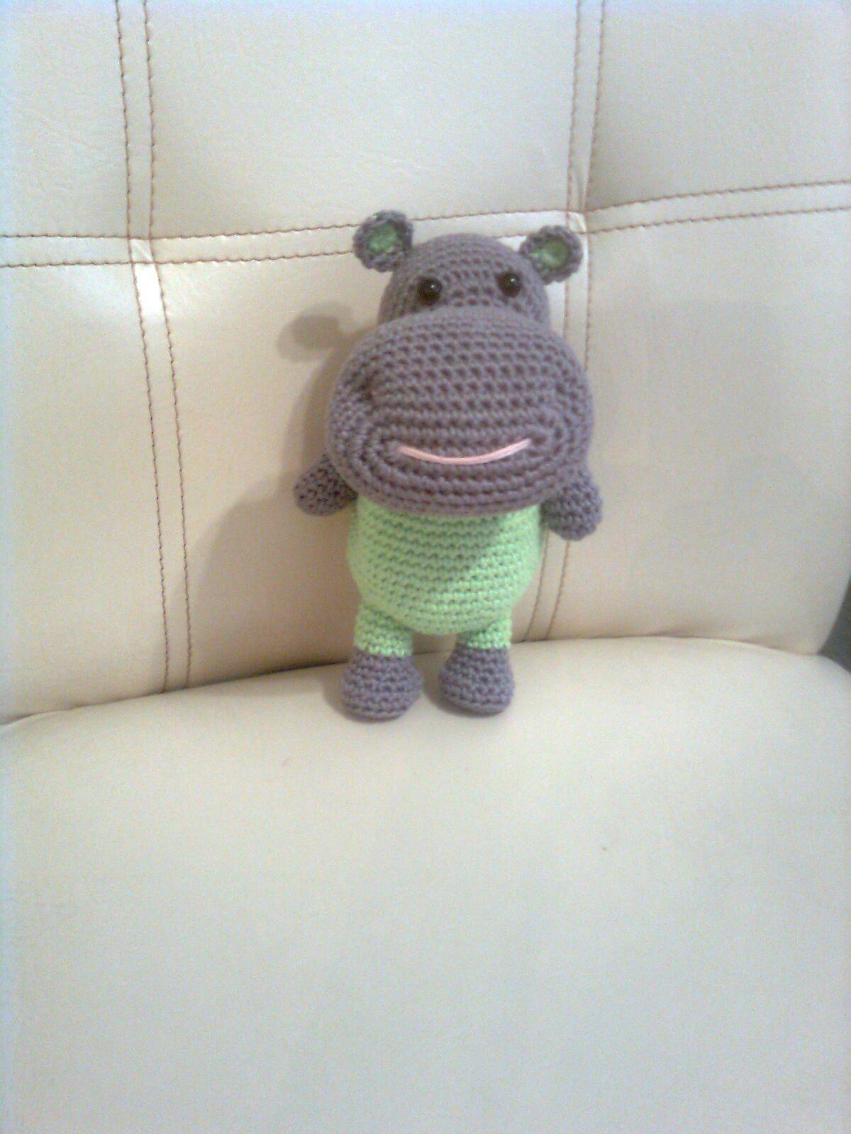 Hipopótamo tejido a croché | Marigurumi | Pinterest | Hipopótamo