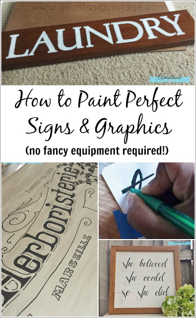 How to Paint Perfect Signs & Graphics - Diy signs, Lettering, How to make signs, Painted signs, Crafts to make, Wood diy - Lately I've been working on lots of painted signs and furniture graphics, and I've been getting lots of questions on how to do them  So today I thought I'd share one of my favorite techniques for transfering images for signs and graphics  It definitely meets my criteria for goto techniques   it's easy, it works, andRead More
