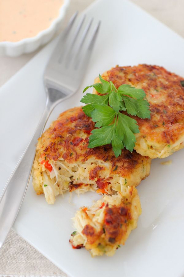 Crab Cakes With Roasted Red Pepper Sauce Recipe Menu