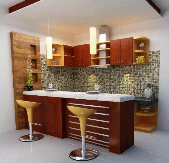 25 desain kitchen set mini bar dapur minimalis terbaru