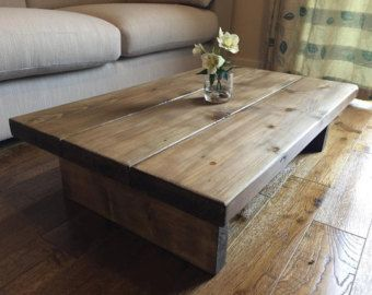 Coffee Table Wood Tables Canada Rustic Handmade Oak Finished Pine Free Postage