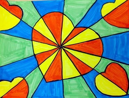 Check out student artwork posted to Artsonia from the 3rd Grade  Warm  Cool Op Art Hearts project gallery at Arboretum Elementary School