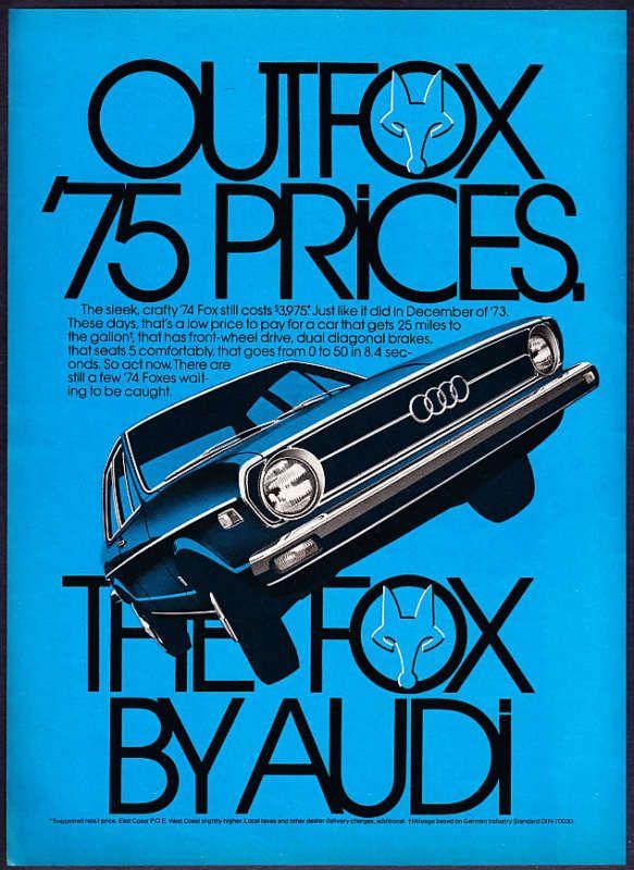 Helmut Krone - Audi / The Fox