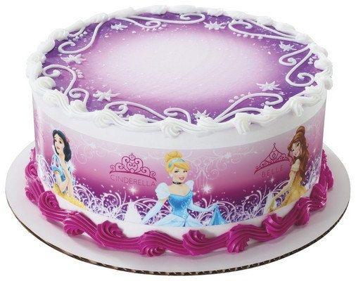 3 Strips of Disney Princess GLAMOUR Edible Cake Borders Topper