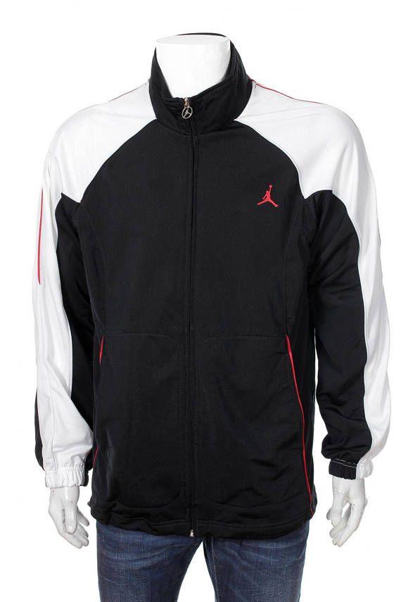 f6509494bb6 Vintage 90S Nike Jordan Windbreaker TrackSuit Top jacket Black/white ...