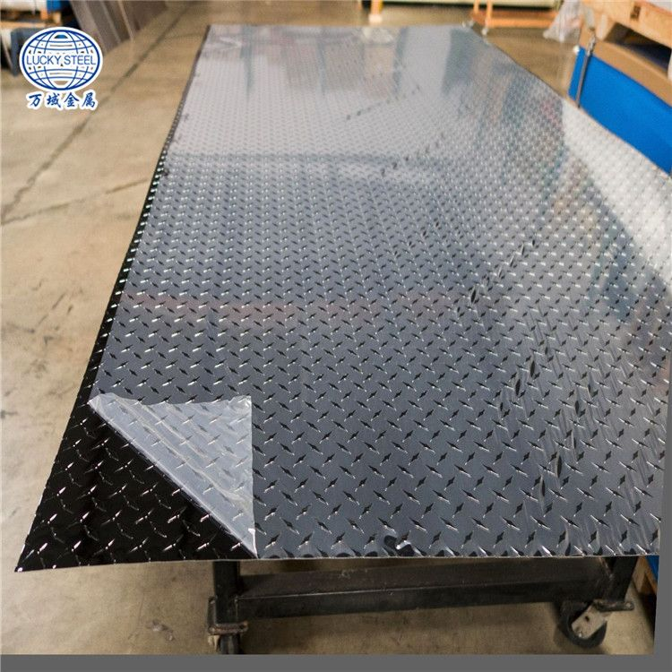 High Quality 1050 O 1060 O Aluminum Knurled Checkered Chequered Plate Aluminum Decking Diamond Plate Flooring