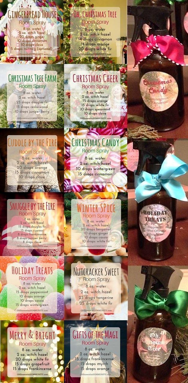 25 Best Christmas Room Sprays | Essential oil spray, Essential oil blends, Essential oils room spray
