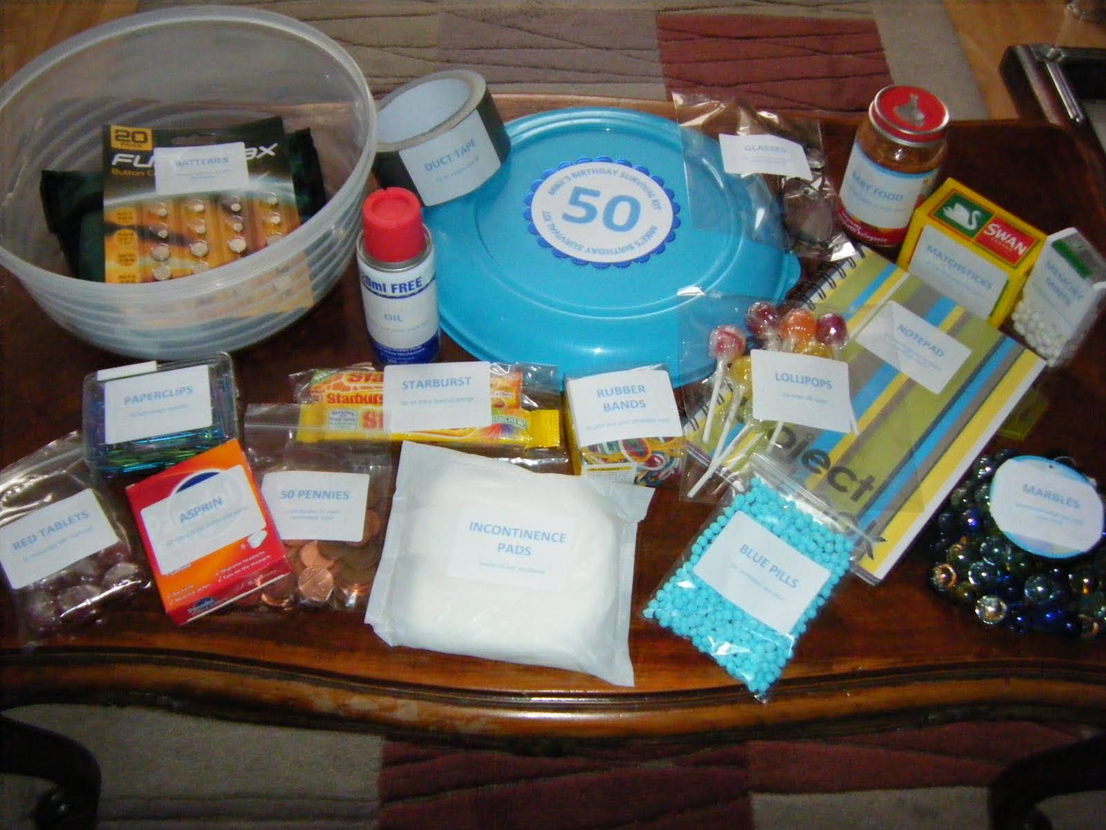 50th birthday survival kit birthday survival kit funny