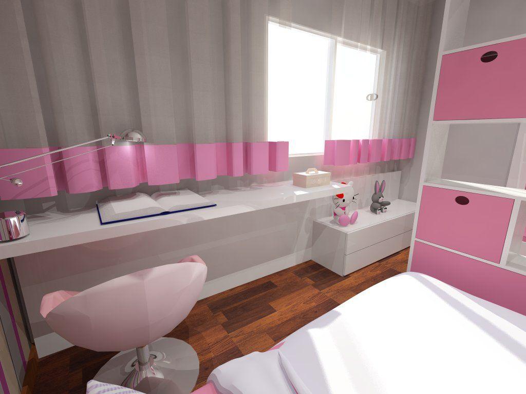 Quarto de menina - CBH - CBhome Móveis sofás Medida decoração