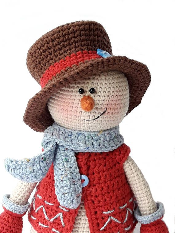 Amigurumi Crochet patterns Snowman doll and Christmas tree DIY housewarming Gift for children Kevin the Snowman