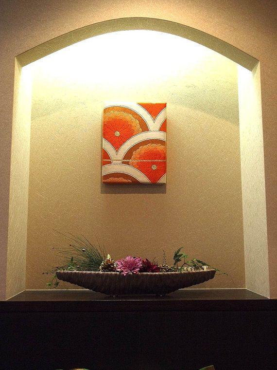 Tapestry Wall Art  KImono Obi  Japan   0000015 by YUMIEco on Etsy