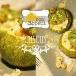 Zucchine ripiene di cuscus e gamberetti