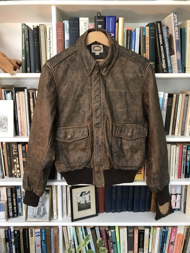 Vintage Banana Republic 70's Leather USAF A1 Flight Jacket