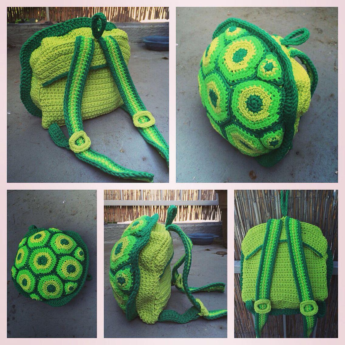 Crochet Turtle Backpack /// Häkel Schildkröten Rucksack | Crochet ...