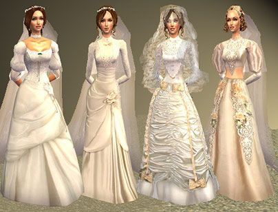 Spring4Sims » Victorian Wedding Gowns, Veils U0026 Accessories By All About  Style