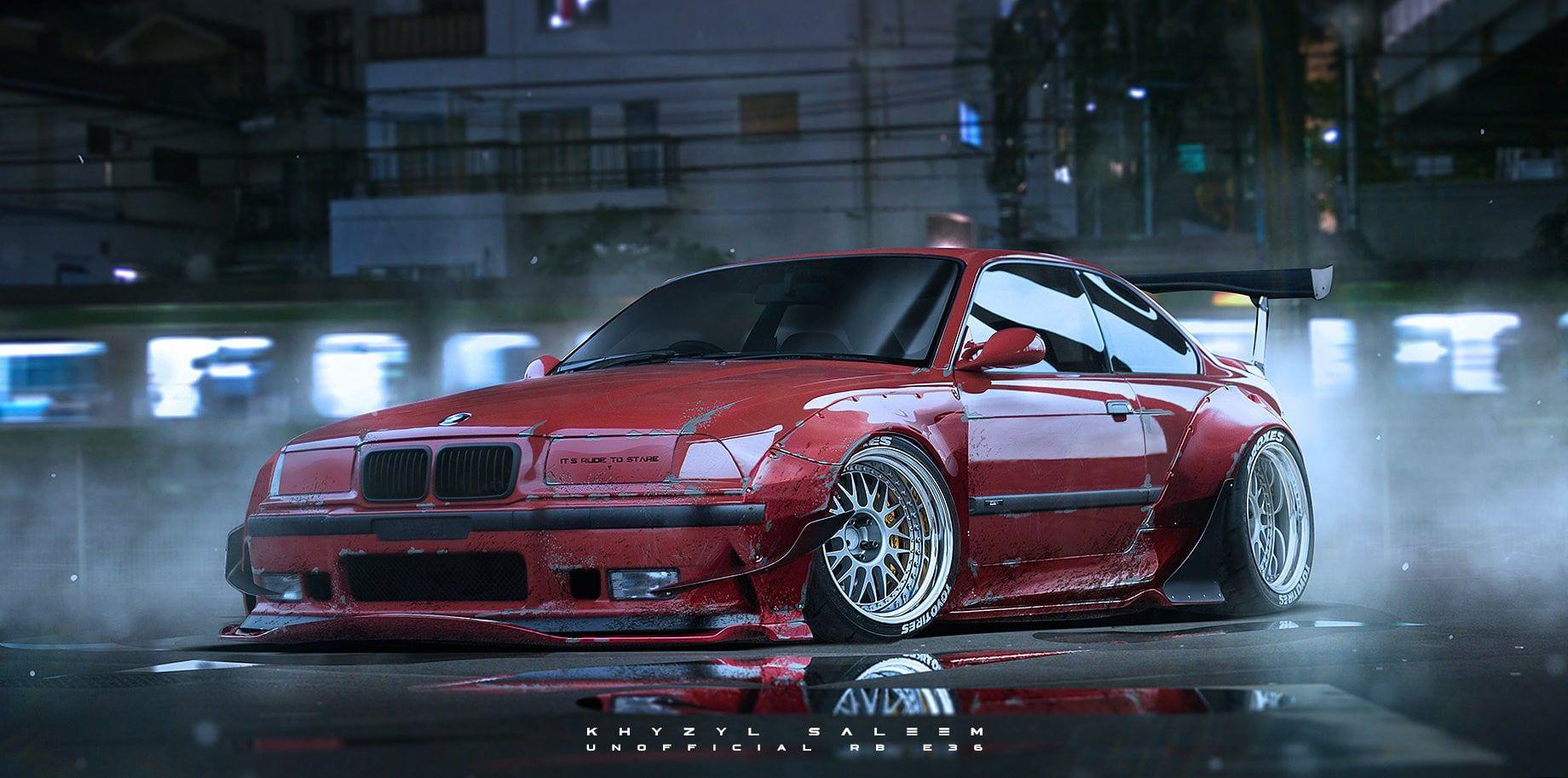 BMW E36 #BBS Toyo Tires #car Khyzyl Saleem #BMW #artwork #render #720P