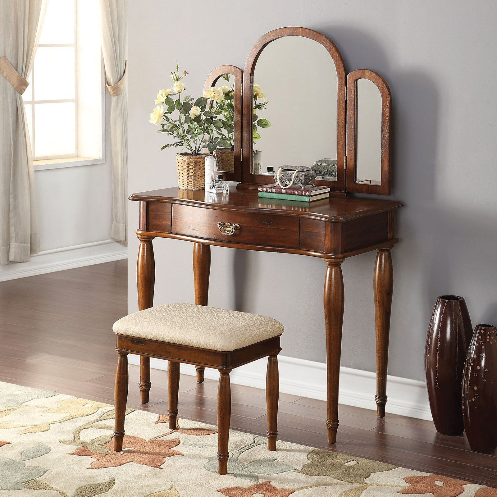 Acme furniture burke vanity set products pinterest