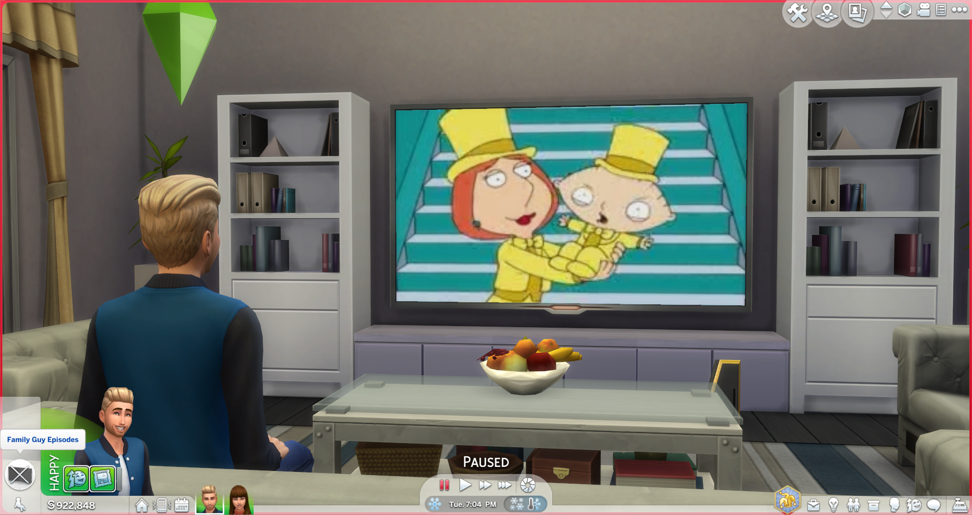 Family Guy Sims 4 Custom TV Channel in 2020 Sims baby