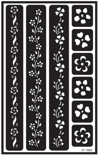 Armour Etch Over N Over Stencil Floral Borders Armour Http Www Amazon Com Dp B001689vyg Ref Cm Sw R Pi Dp 2j Glass Etching Stencils Stencils Stencil Designs