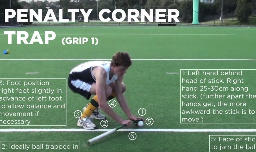 The penalty corner stickstop, how to do it? Field