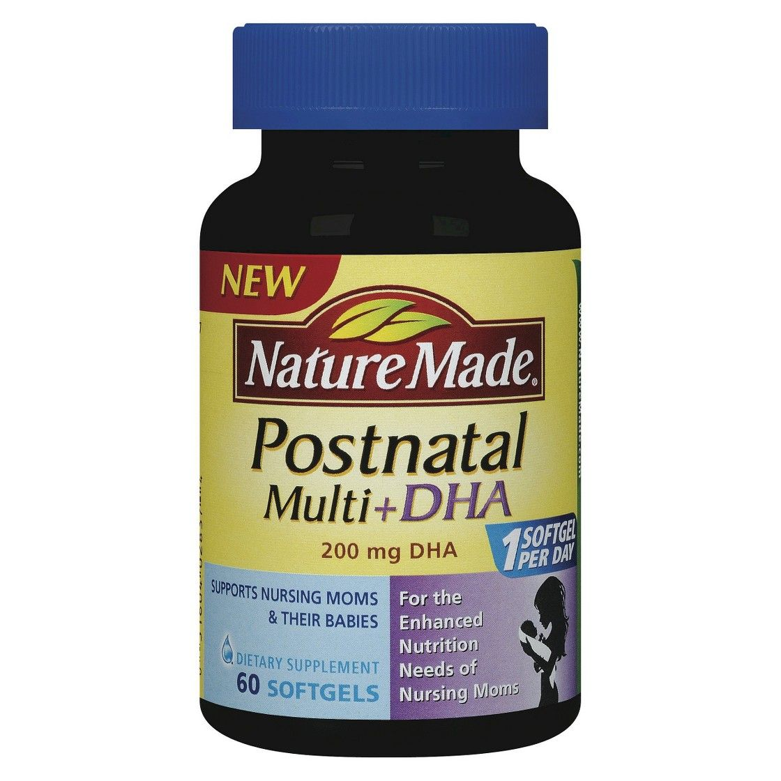 Nature made postnatal dha softgels 60ct postnatal