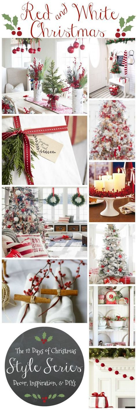 red and white christmas 12 days of christmas style series red and white decor inspiration and diys Classic Red u0026 White Christmas