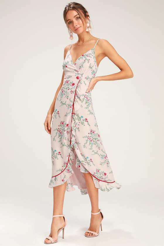 16+ Blush wrap dress midi ideas
