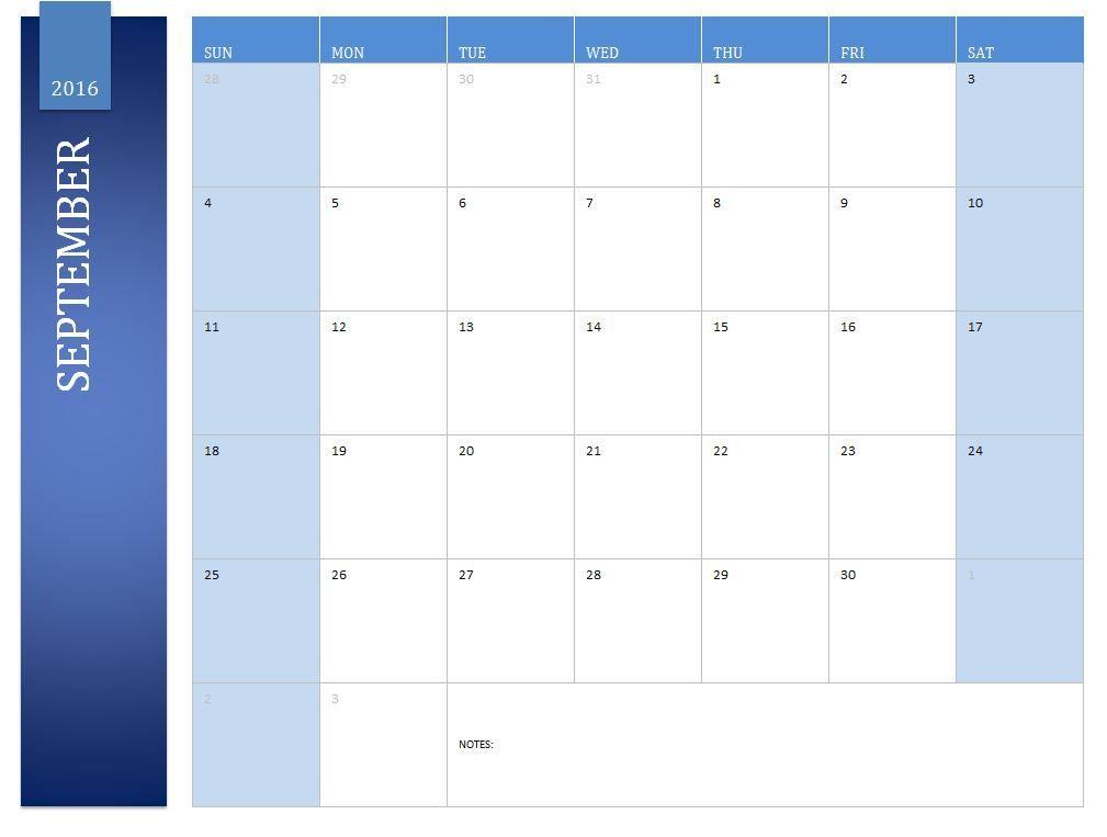 september 2016 excel calendar free calendar printable 2016