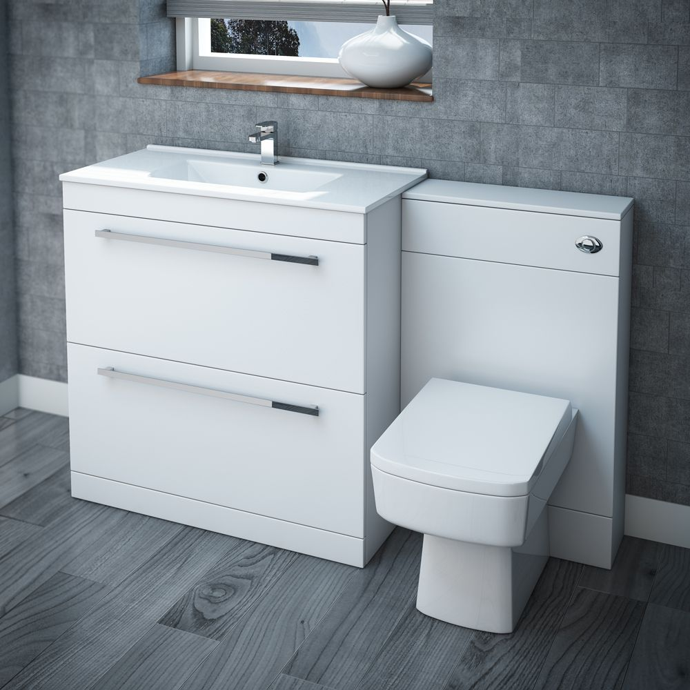 Nova High Gloss White Vanity Bathroom