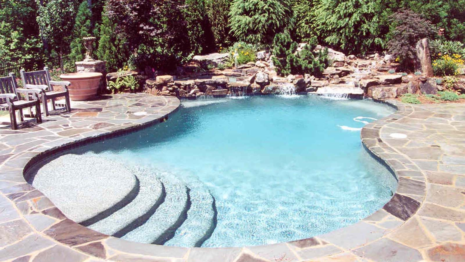 Aqua design pools spas llc natural pool ideas for Aqua pool piscinas