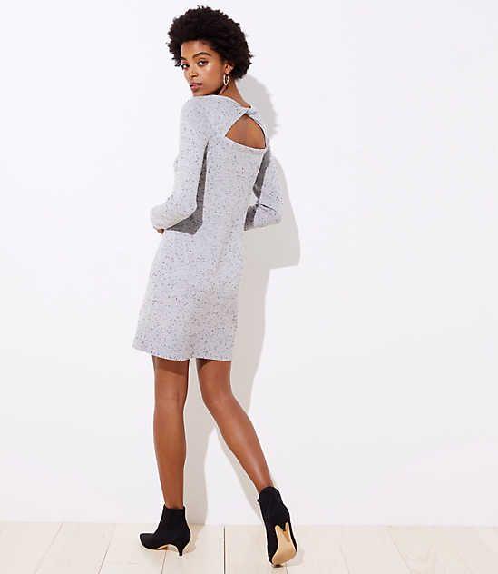 ea933abd8e9 Shop LOFT for stylish women s clothing. You ll love our irresistible  Flecked Cutout Back Sweater Dress - shop LOFT.com today!